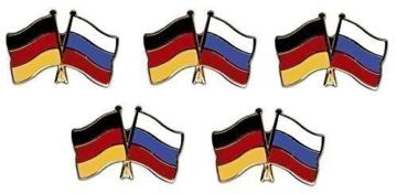 5er Pack Deutschland – Russland Freundschaftspin Yantec Pin Flagge -