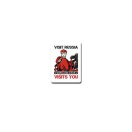 Aufkleber / Sticker -PUTIN VISITS YOU Visit Russia Russland Wladimir Wladimirowitsch Russischer Präsident Humor Spaß Fun Emblem 5x7cm#A3748 - 1