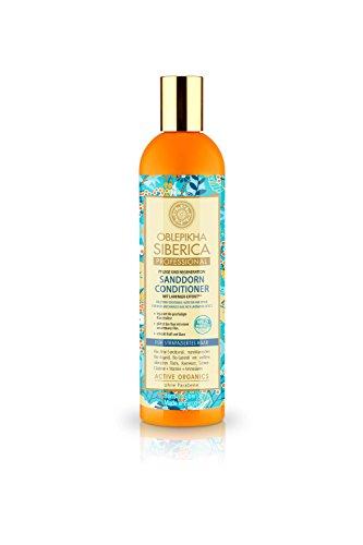 Natura Siberica Sanddorn Conditioner für strapaziertes Haar, Pflege und Regeneration, 1er Pack (1 x 400 ml) -