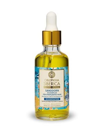 Natura Siberica Sanddorn Ölkomplex für strapaziertes Haar, Regeneration, 1er Pack (1 x 50 ml) -