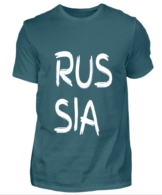 RUSSIA T-Shirt Herren tuerkis