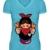 Russian Matroschka T-Shirt blau
