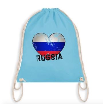 Turnbeutel Russia hellblau