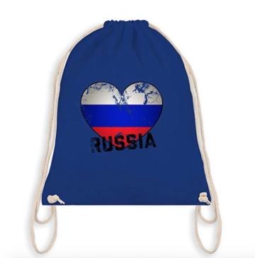 Turnbeutel Russia Dunkelblau